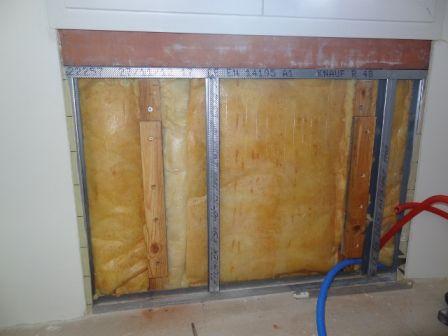 Escalier et pose d 39 un radiateur sur l vation sud ouest toulouse - Fixation radiateur placo ...